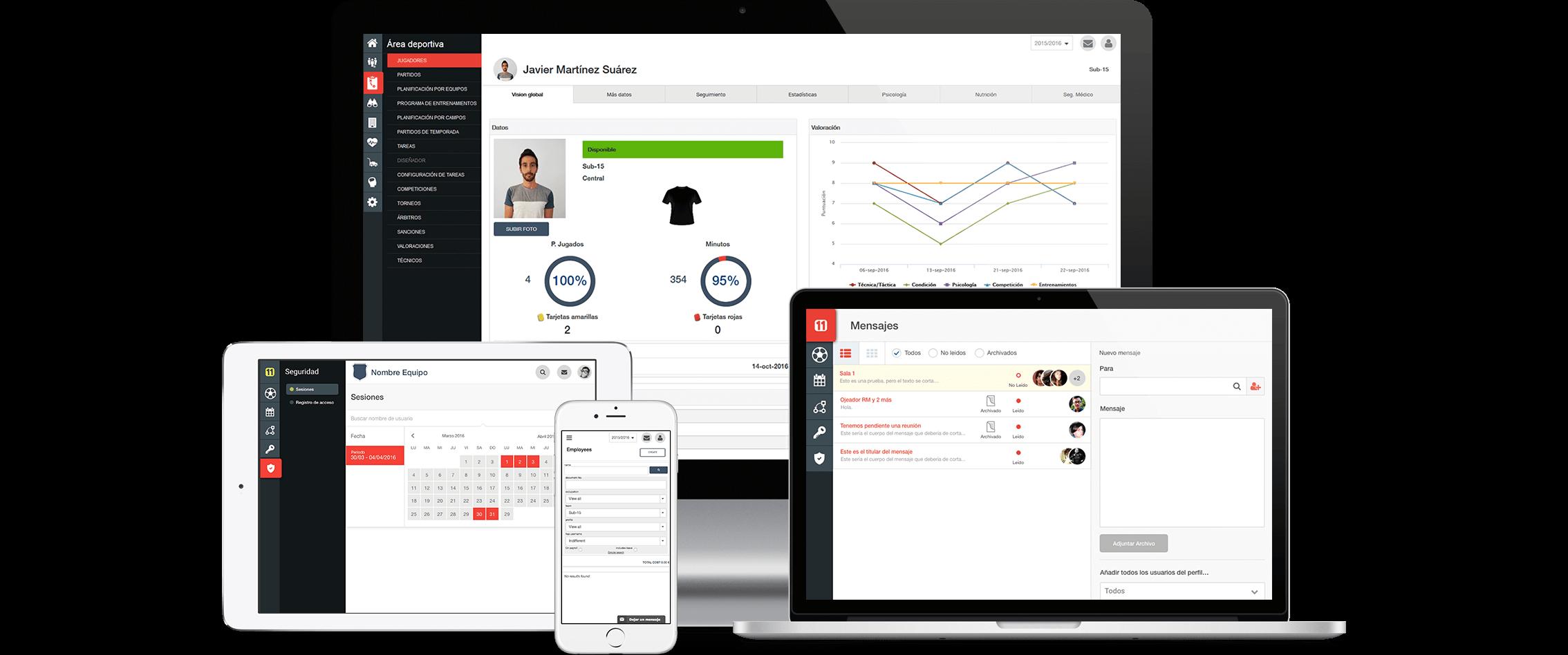 pantalla de director11 software de gestión deportiva